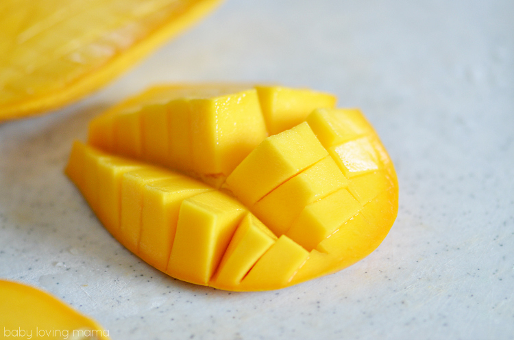 Sliced Mango for Lemon Rice