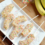 Yogurt Dipped Frozen Banana on a Stick with Toasted Coconut | Mini Chef Mondays