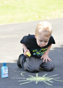 Wes Using Homemade Chalk