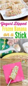 ogurt Dipped Frozen Banana on a Stick