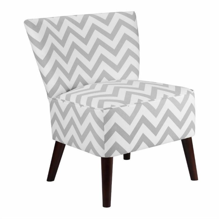 Charmant Chevron Accent Chair Small Spaces Living Room Ebay