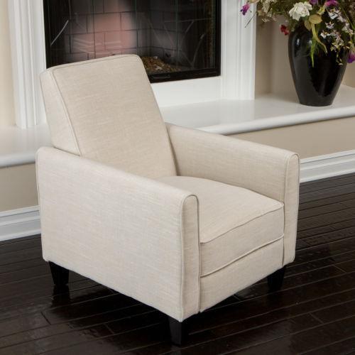 Darvis Light Beige Fabric Recliner Club Chair