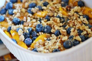 Fresh Mango and Blueberries with Walnuts