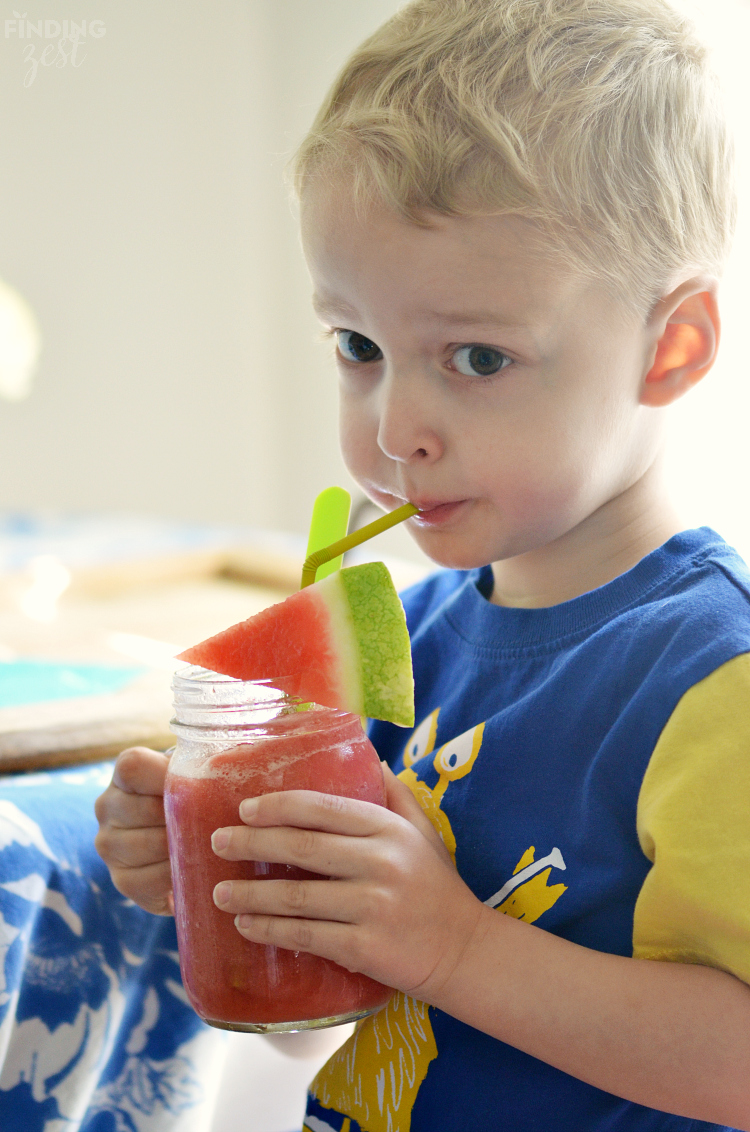 Kid Friendly Watermelon Strawberry Cooler