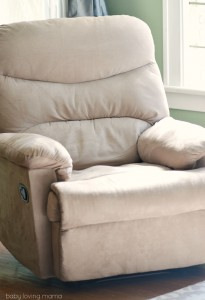 Microfiber Beige Recliner from eBay