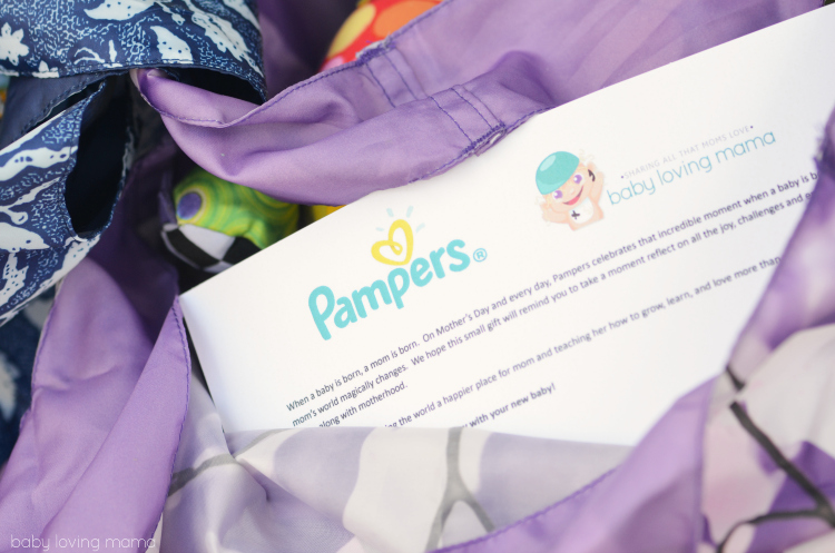 Pampers Thanks Baby Mothers Day Note