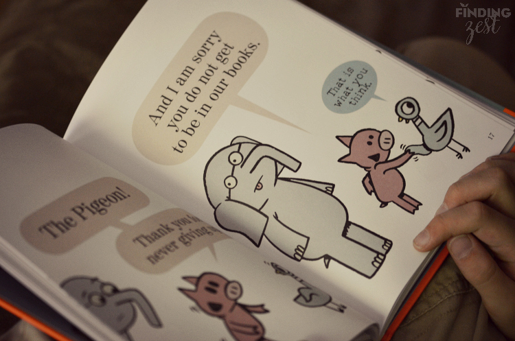 Pigeon Cameo in The Thank You Book Mo Willems