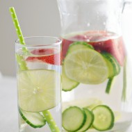 Strawberry Lime Cucumber Infused Water | Mini Chef Mondays