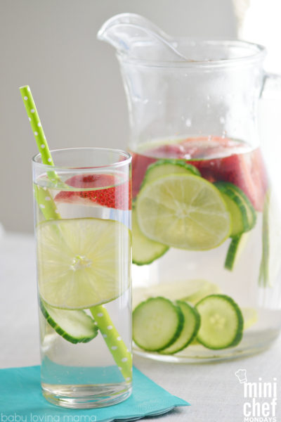 Refreshing Strawberry Lime Cucumber Infused Water