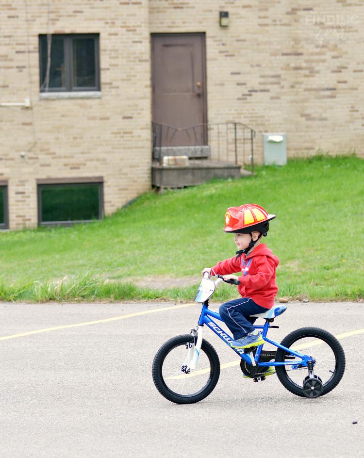 Riding a Schwinn Burnout Kids Bike