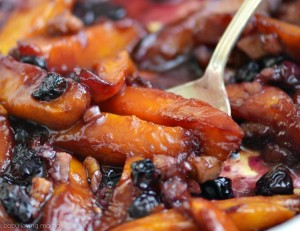 Roasted Mangoes Blueberries and Walnuts