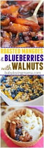 Roasted Mangoes Blueberries with Walnuts