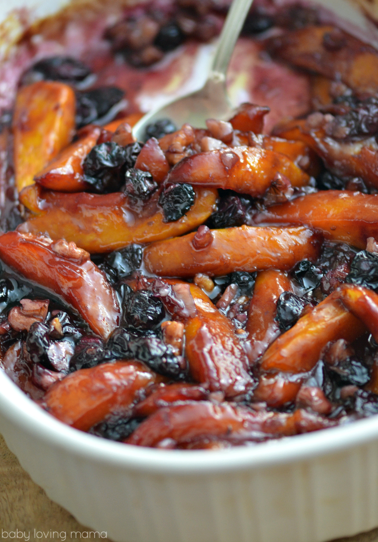 Roasted Mangoes and Blueberries with Walnuts