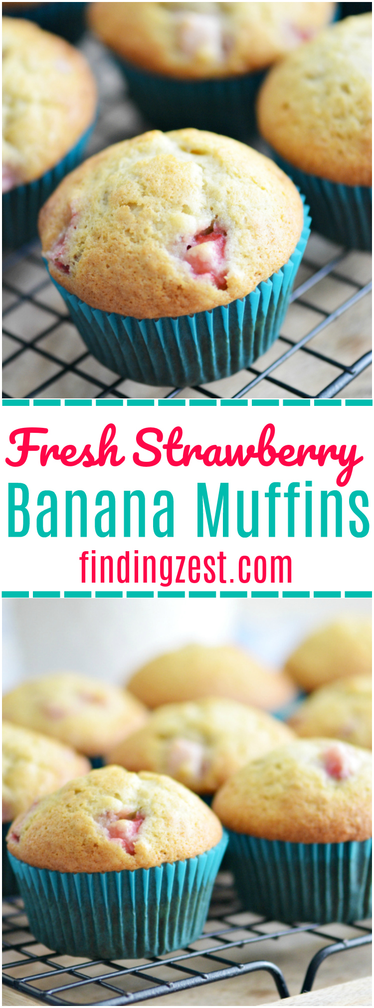 If you love homemade muffins, you must give this fresh strawberry banana muffins recipe a try for your next brunch or breakfast. These are the best strawberry muffins I've ever tried. Packed with flavor, it is a great muffin recipe for kids!