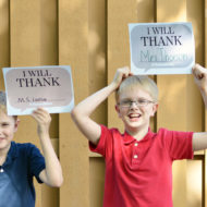 Elephant and Piggie Say Goodbye with The Thank You Book by Mo Willems