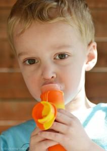 Wesley Eating Ice Pop