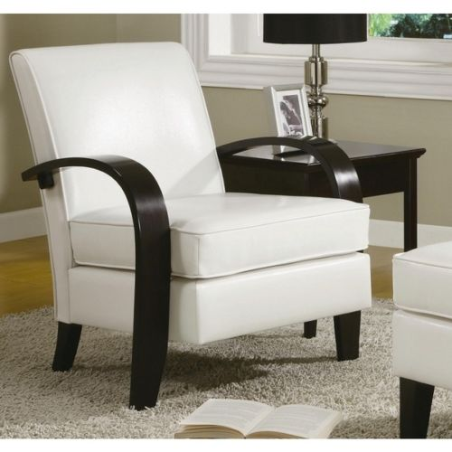 Wonda White Bonded Leather Accent Chair