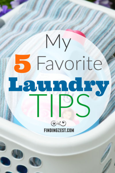 My 5 Favorite Laundry Tips