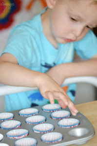 Adding Mini Cupcake Liners for Potato Chip Candy