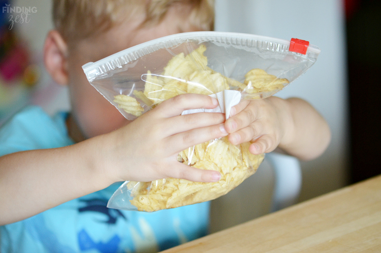 Breaking Up Potato Chips for Candy