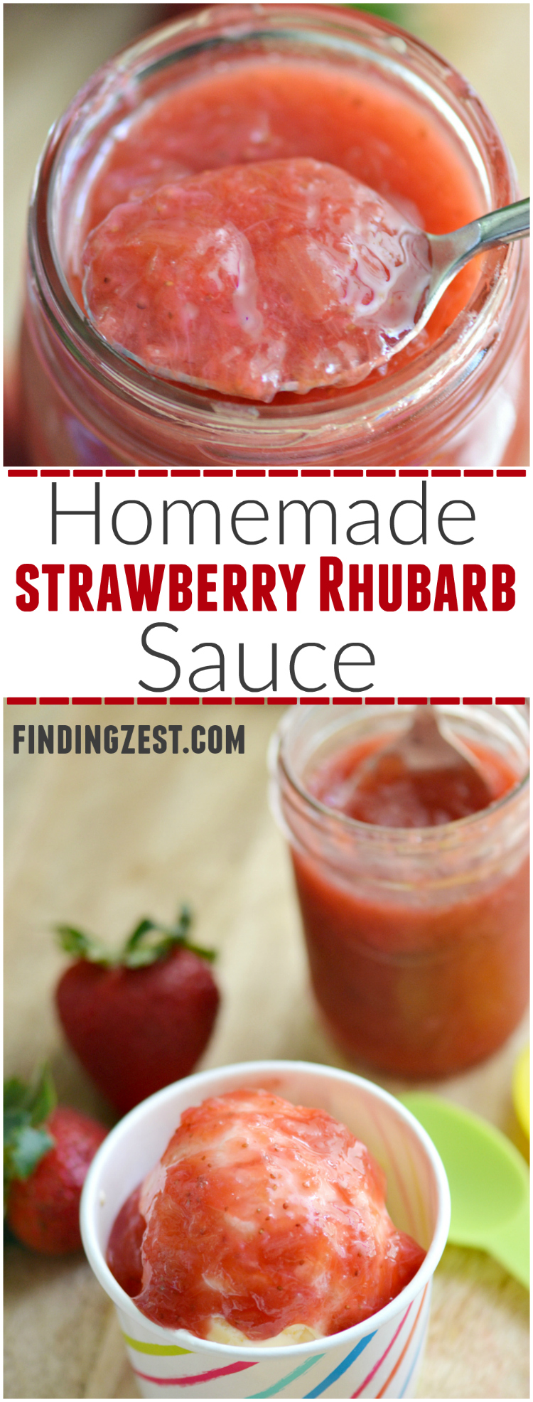 Easy Homemade Strawberry Rhubarb Sauce