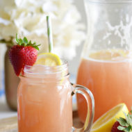 Homemade Strawberry Rhubarb Lemonade | Mini Chef Mondays