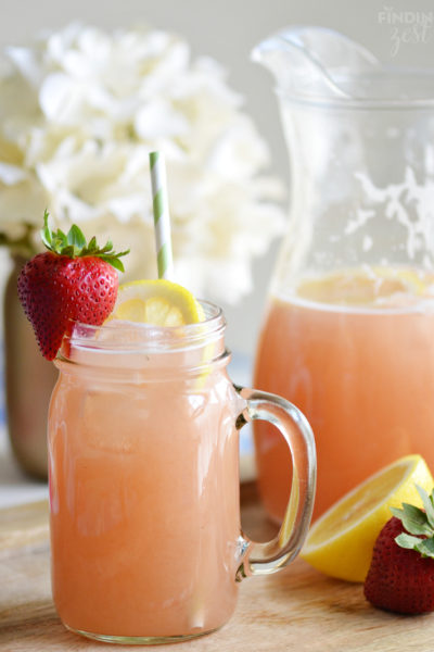 Homemade Strawberry Rhubarb Lemonade Recipe