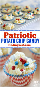 Patriotic Potato Chip Candy