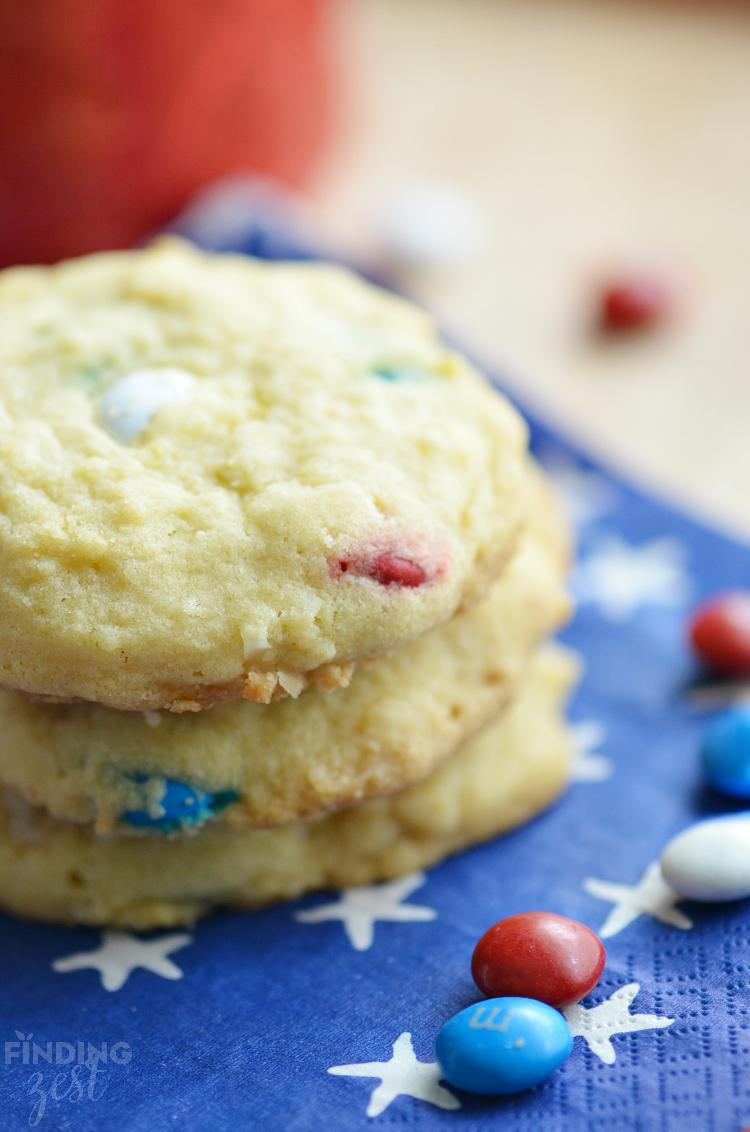 Patriotic Pudding Cookies Recipe