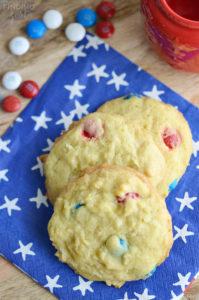 Soft Patriotic Pudding Cookies