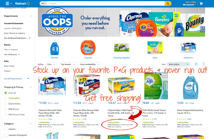 Stock Up and Avoid the Oops with Walmart
