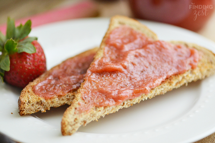 Strawberry Rhubarb Jam on Toast