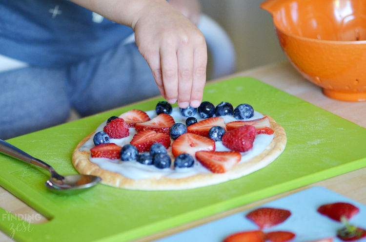 Adding Fruit to Breakfast Pizza