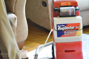 Cleaning with Rug Doctor Carpet Cleaning Machine