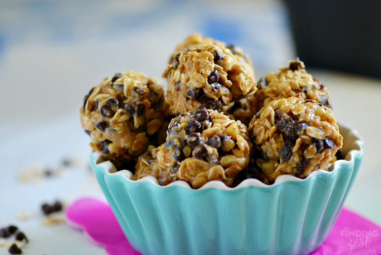 Easy Oatmeal Peanut Butter Protein Bites