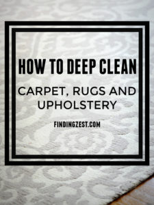How to Deep Clean Carpet Rugs and Upholstery