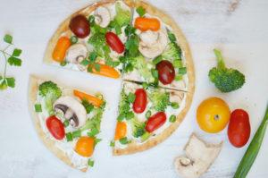 No Bake Veggie Flatbread Pizza Appetizer