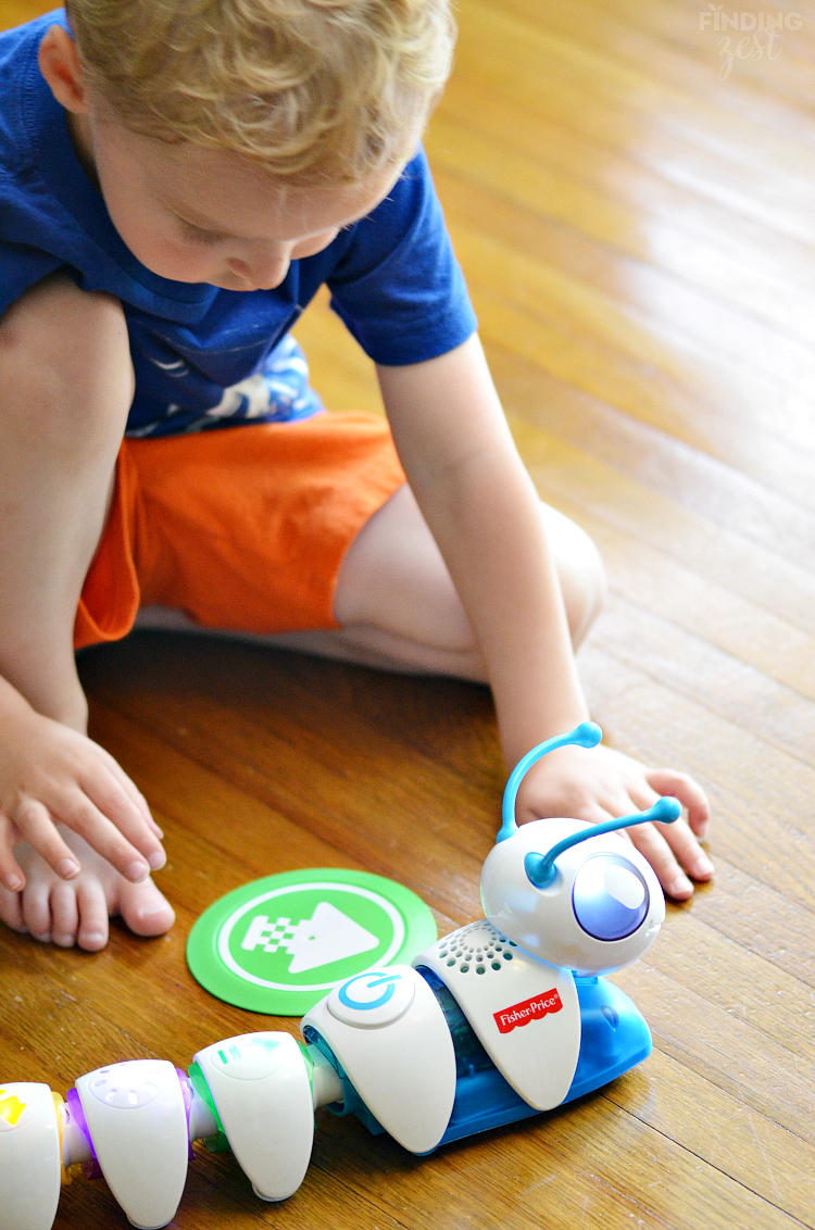 Playing with Fisher Price Code a Pillar Toy