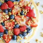 Yogurt Fruit Breakfast Pizza