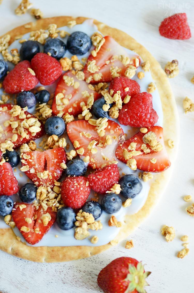 Yogurt Fruit Breakfast Pizza Recipe