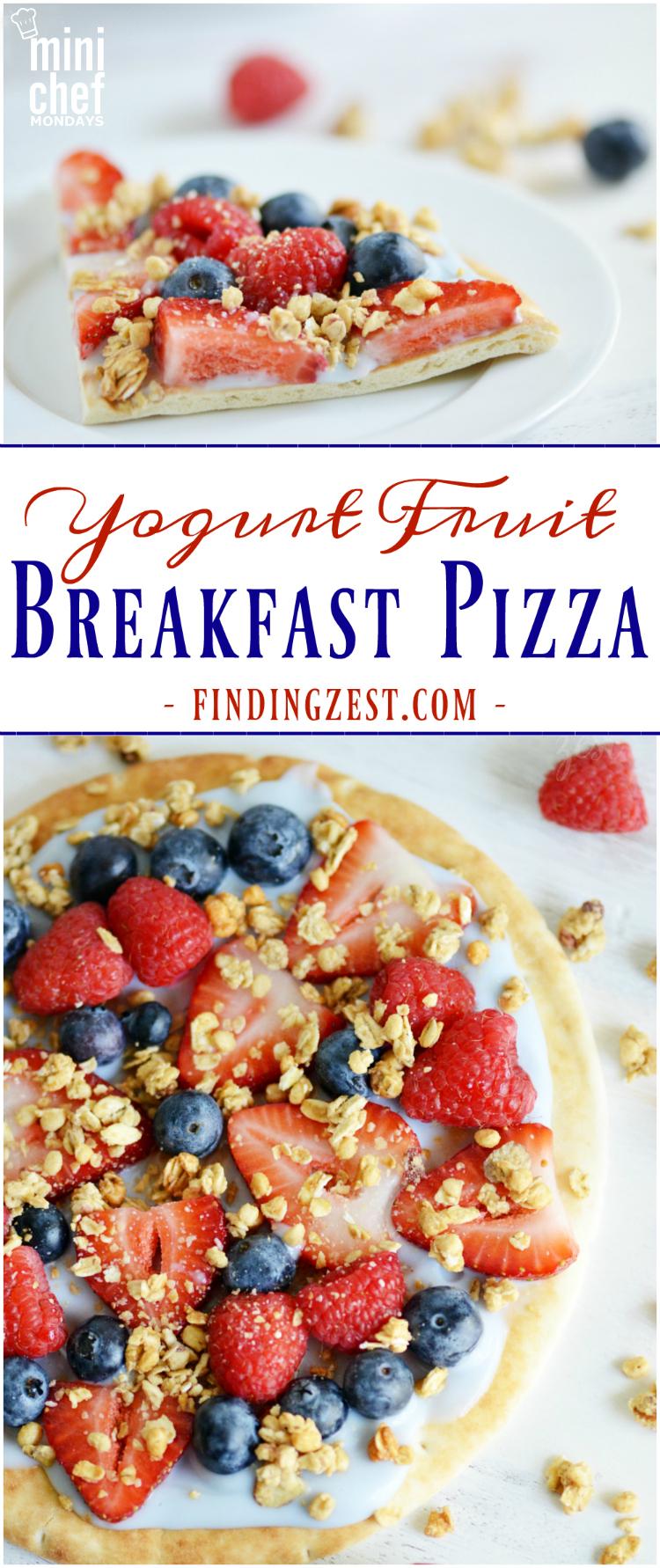 Yogurt Fruit Breakfast Pizza