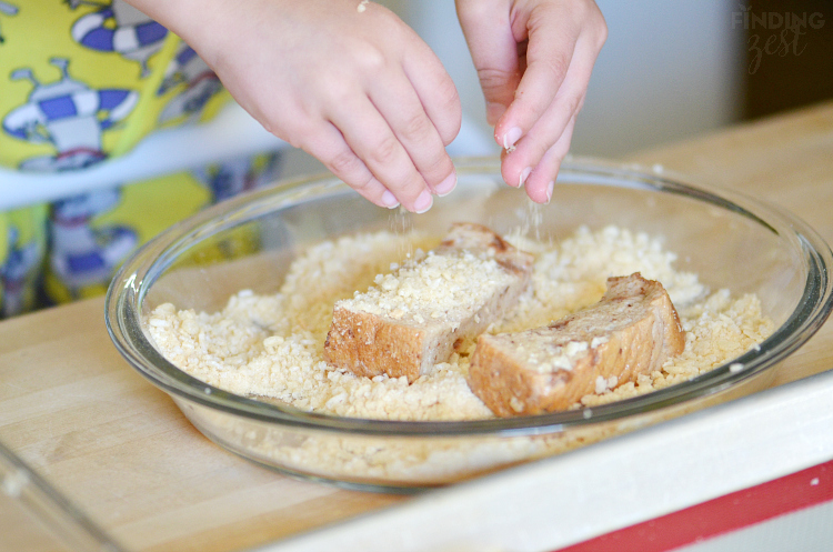 Adding Crunchy Coating to Freezer French Toast Sticks