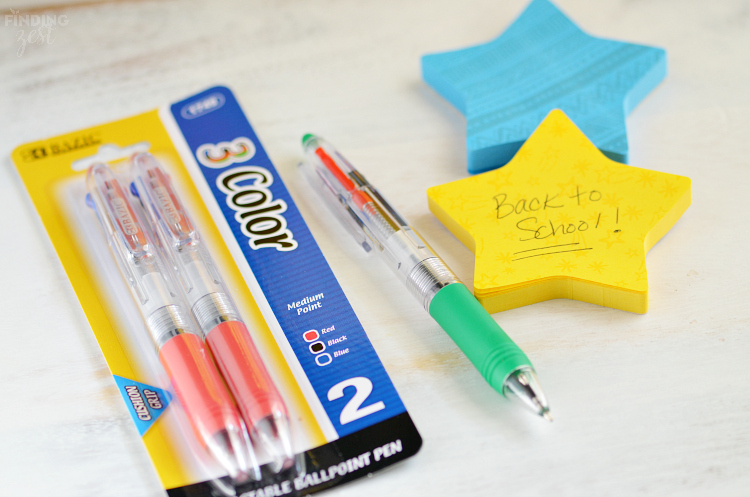 Bazic 3 Color Pens for Back to School