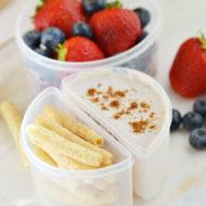 Cinnamon Yogurt Dippers for School Lunch | Mini Chef Mondays