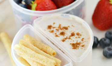 Cinnamon Yogurt Dippers for School Lunch   Mini Chef Mondays