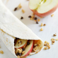 Crunchy Apple Peanut Butter Wrap
