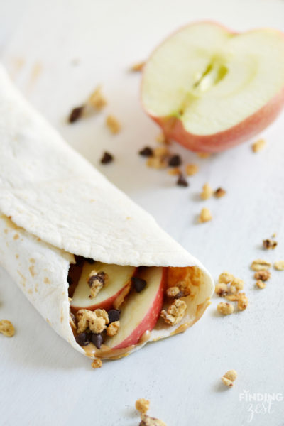 Crunchy Apple Peanut Butter Wrap Recipe