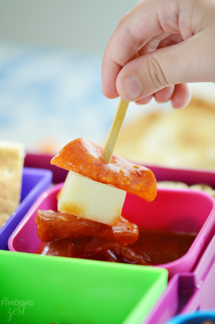 Dunking Pizza Dippers for School Lunch