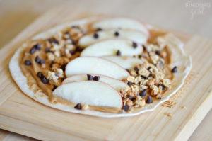 Easy Apple Peanut Butter Wrap