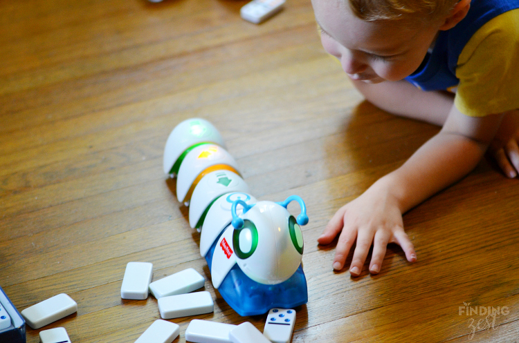 Fisher Price Code a Pillar Knocking Down Dominos